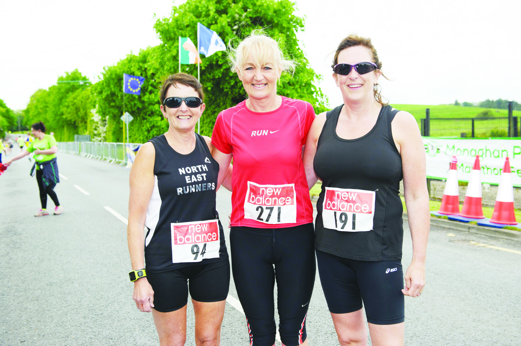 Eileen Jordan, Siobhan Shields and Kathleen Mulholland from North East Runners at the Blackwater 10k. ©Rory Geary/The Northern Standard