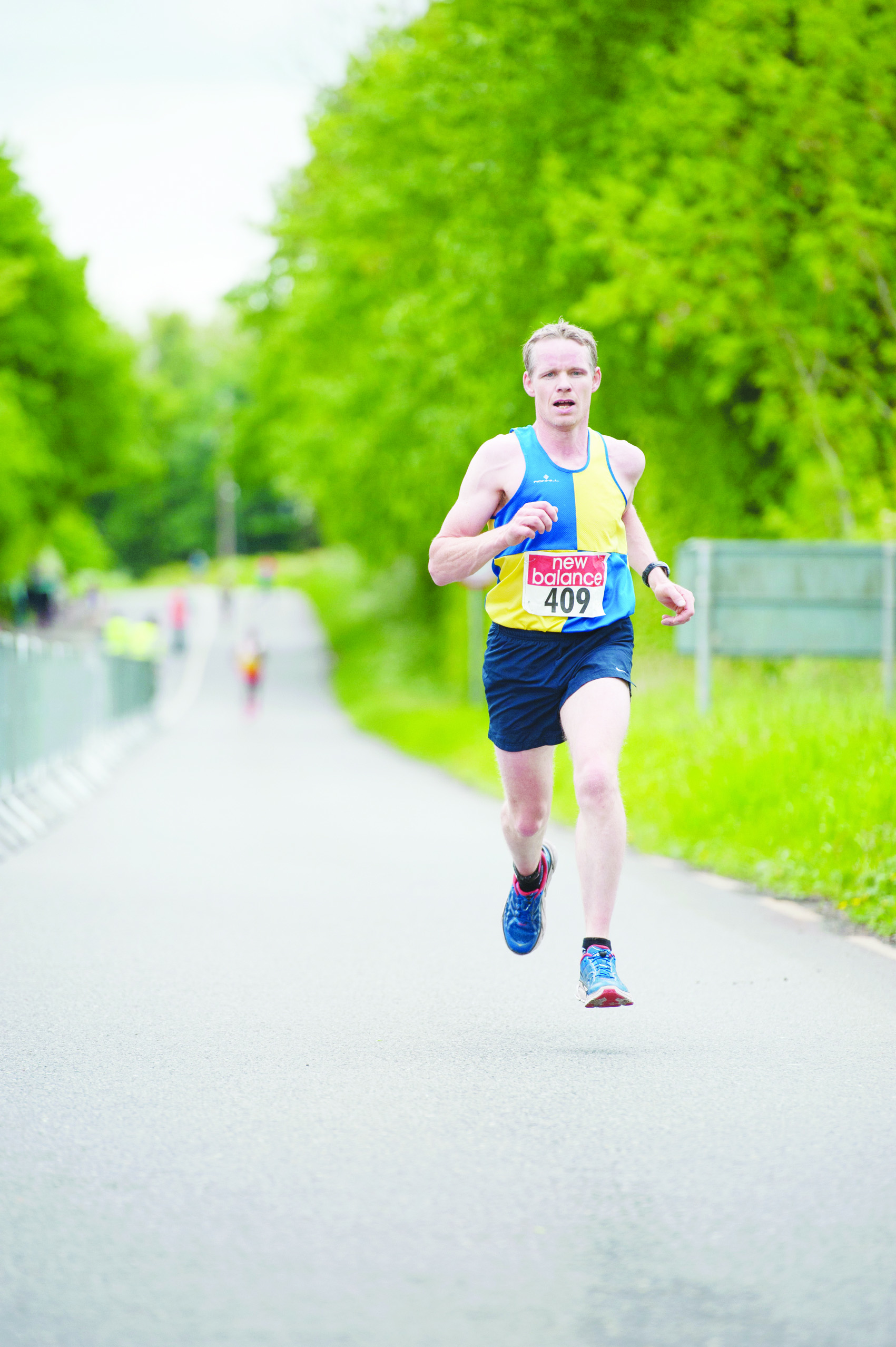 Gregory Murphy, Clones AC, as he finished the Blackwater 10k. ©Rory Geary/The Northern Standard