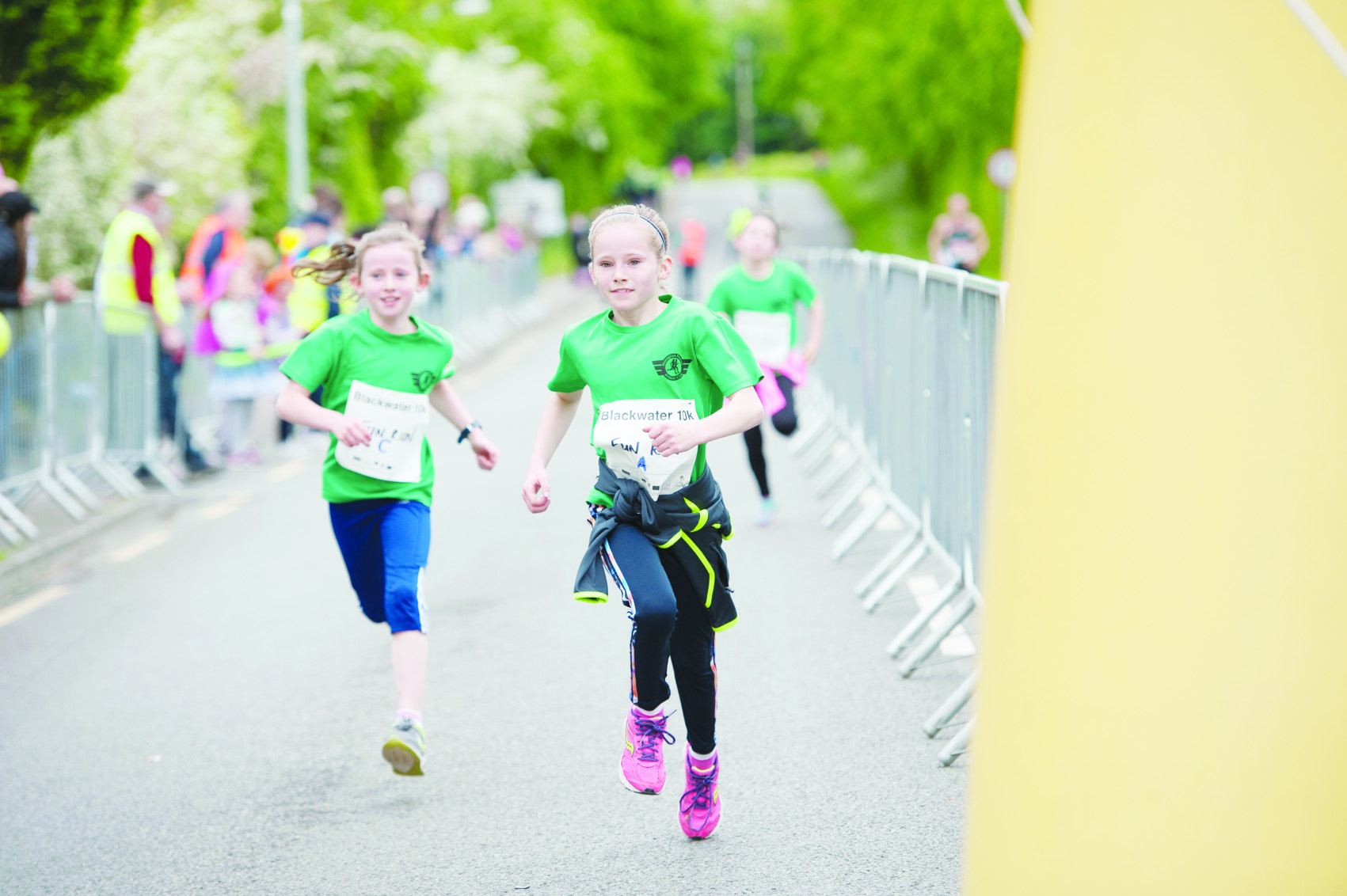 Some of the fun runners finishing the 5k. ©Rory Geary/The Northern Standard