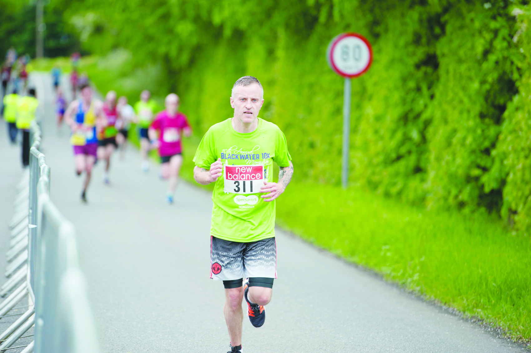 James O'Brien finishing the Blackwater 10k. ©Rory Geary/The Northern Standard