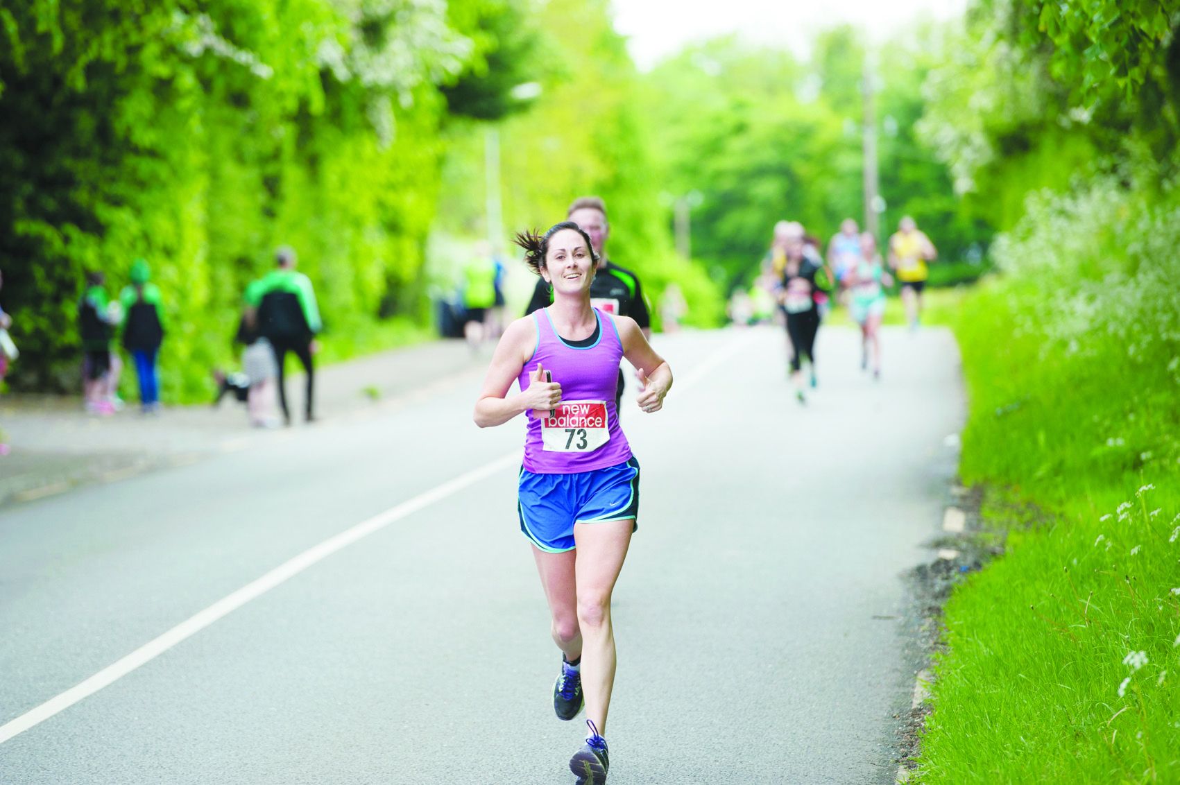 Caoimhe Galligan from Killygarry reaching the finish of the Blackwater 10k. ©Rory Geary/The Northern Standard