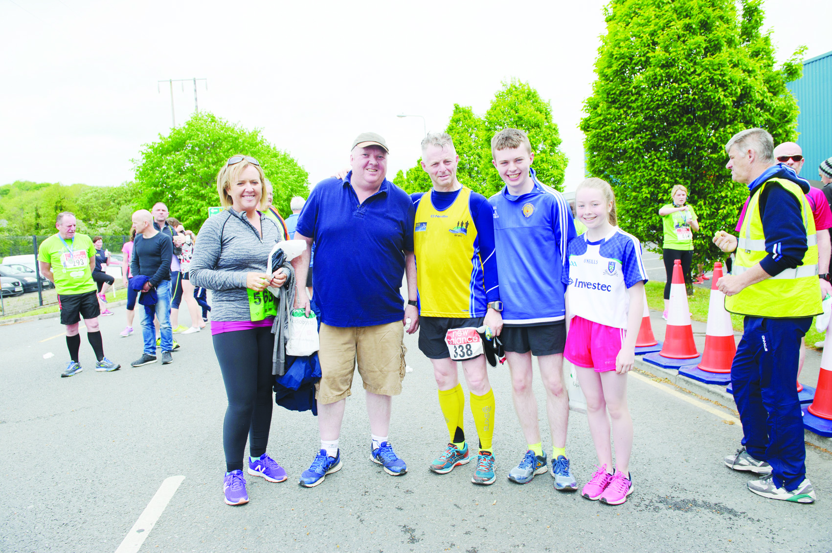 At the Blackwater 10k were (L-R) Emma Aughey, James Cassidy, Raymond, Ryan and Aoife Aughey. ©Rory Geary/The Northern Standard