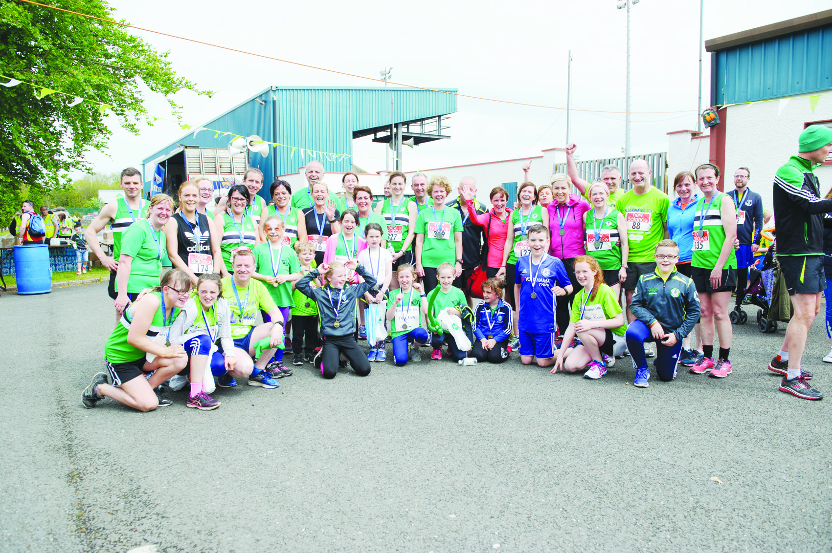 Members of the Monaghan Phoenix AC at the Blackwater 10k. ©Rory Geary/The Northern Standard