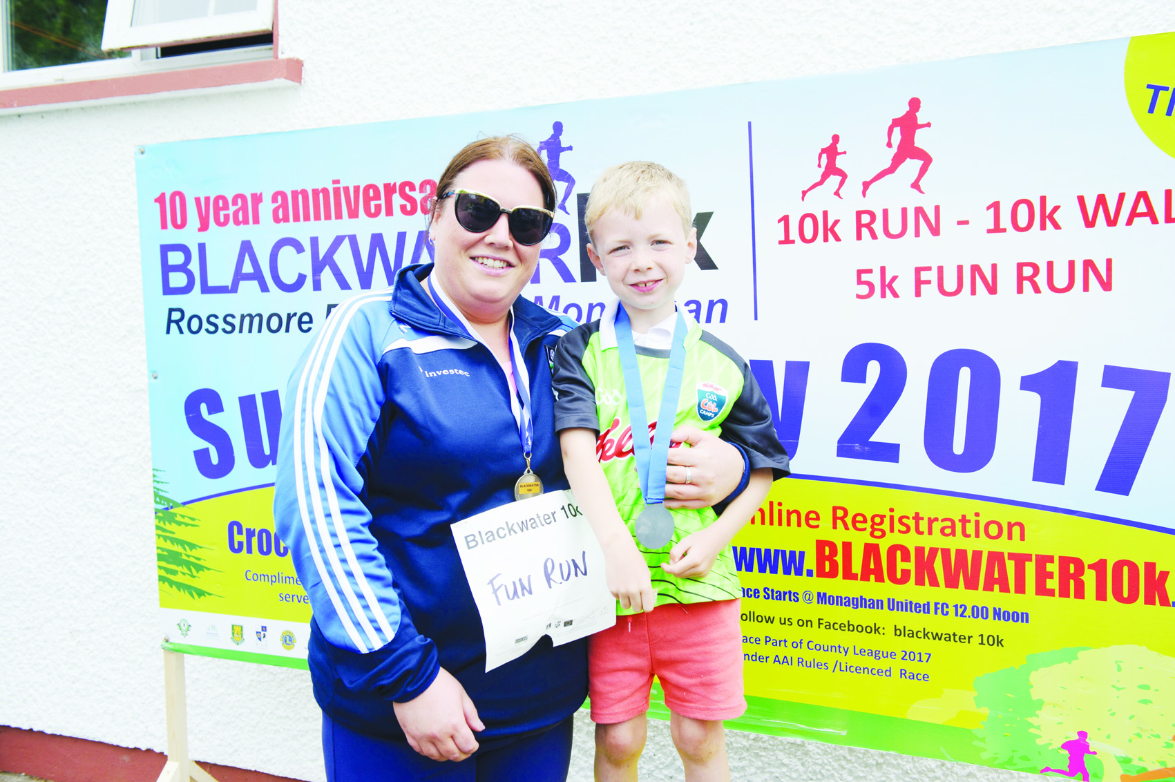 Maria Neeson and Cillian Carroll at the Blackwater 10k. ©Rory Geary/The Northern Standard