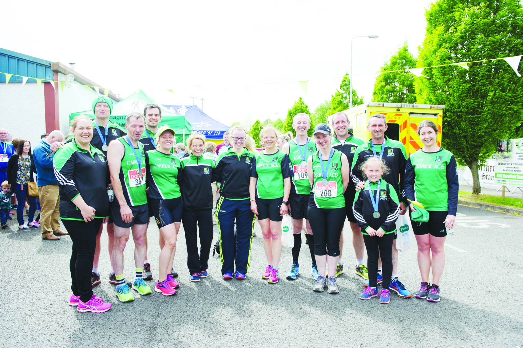 Members of the Carrick Aces AC, at the Blackwater 10k. ©Rory Geary/The Northern Standard