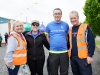 At the Blackwater 10k was Kevin Donovan, 3rd from left, who is undertaking a 32 county challenge to complete a race in each of the 32 counties in aid of the Irish Deaf Society and the Cork Deaf Society. Pictured with Kevin are Geraldine McMenamin and Peter McKenna, Blackwater 10k commitee and Mary Donovan. ©Rory Geary/The Northern Standard