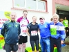 Pictured at the Blackwater 10k were (L-R) Dessie McAree, Eddie Shepard, Ann Marie McAree, Sean McCaffrey and Tommy McCormack. ©Rory Geary/The Northern Standard