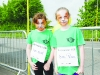 Aoife McKenna and Aiveen McElmeel at the Blackwater 10k. ©Rory Geary/The Northern Standard