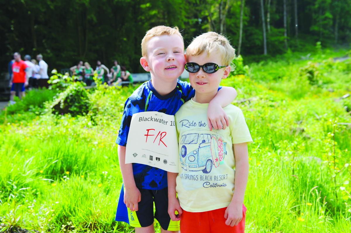 Finn Brennan and Killian Carroll at the Blackwater 10k. ©Rory Geary/The Northern Standard