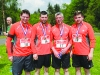 Running the Blackwater 10k for the Derryvalley Church Repair Fund and in memory of their father James Gilmour were (L-R) Kenny, David, Mervyn and Jason Gilmour. ©Rory Geary/The Northern Standard