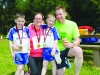 At the Blackwater 10k were (L-R) Ben, Carmel, Adam and Sean Mullan. ©Rory Geary/The Northern Standard