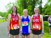 Pictured at the Blackwater 10k were (L-R) Aidan Campbell, Blayney Rockets, Dermot Kerr, Armagh City AC and Alan Clarke, Blayney Rockets. ©Rory Geary/The Northern Standard