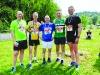 At the Blackwater 10k were (L-R) Declan McCaul, Mark Macklin, John Meehan, Alo Grew and Gavin Shipley. ©Rory Geary/The Northern Standard