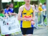 Mark Macklin, Monaghan Town Runners, as he finished the Blackwater 10k. ©Rory Geary/The Northern Standard