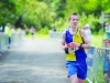 Shane Brady from Clones AC, finishing the Blackwater 10k. ©Rory Geary/The Northern Standard