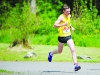 Winner of the Blackwater 10k, Conor Duffy, Glaslough Harriers, as he approached the finish line. ©Rory Geary/The Northern Standard