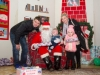Santa with Paul, Darragh, Ceala and Brenda Treanor, when they met with him at the Carrickroe Christmas event. ©Rory Geary/The Northern Standard