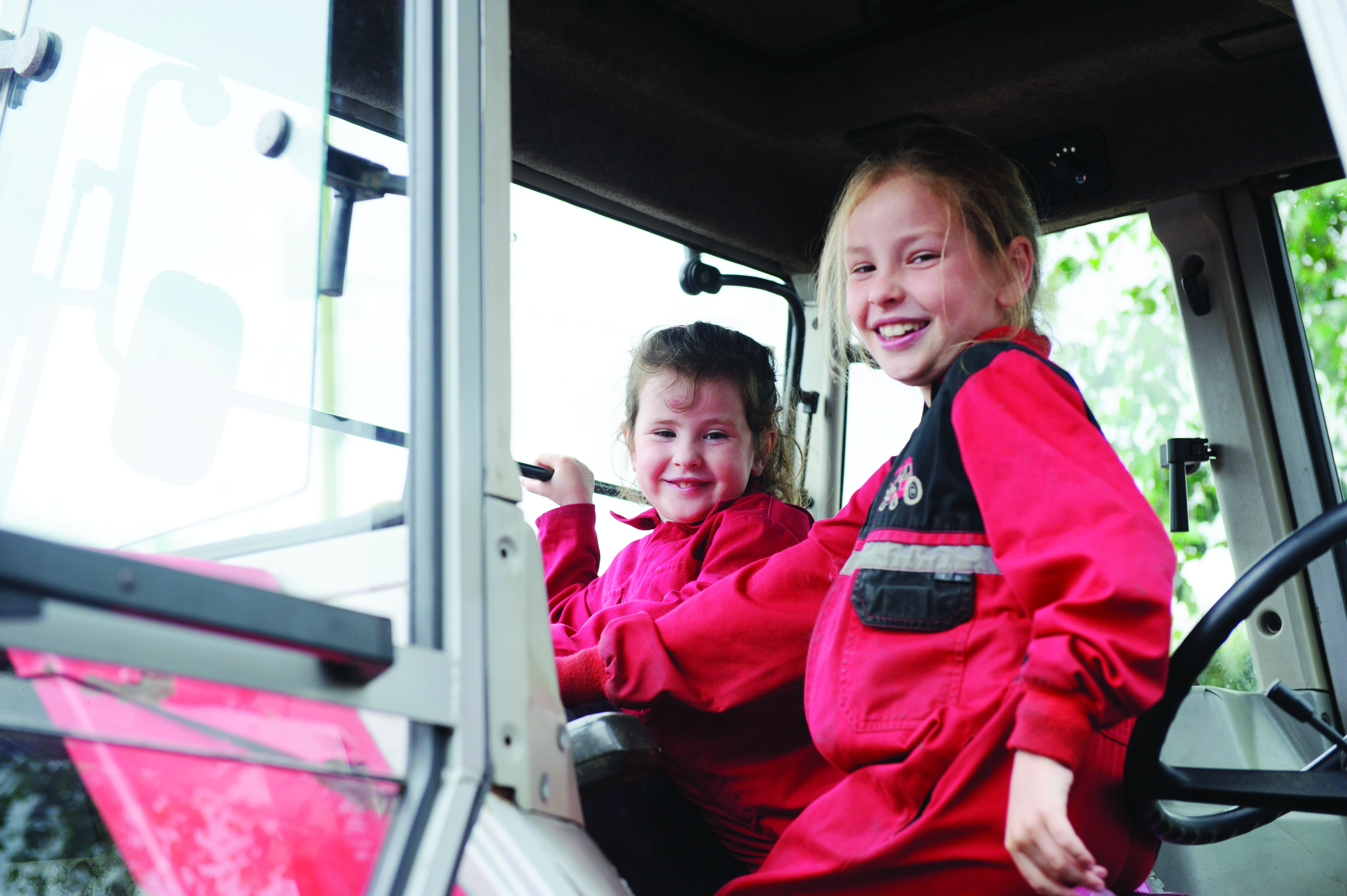 At the tractor run were Seanine and Aiobheann Treanor. ©Rory Geary/The Northern Standard