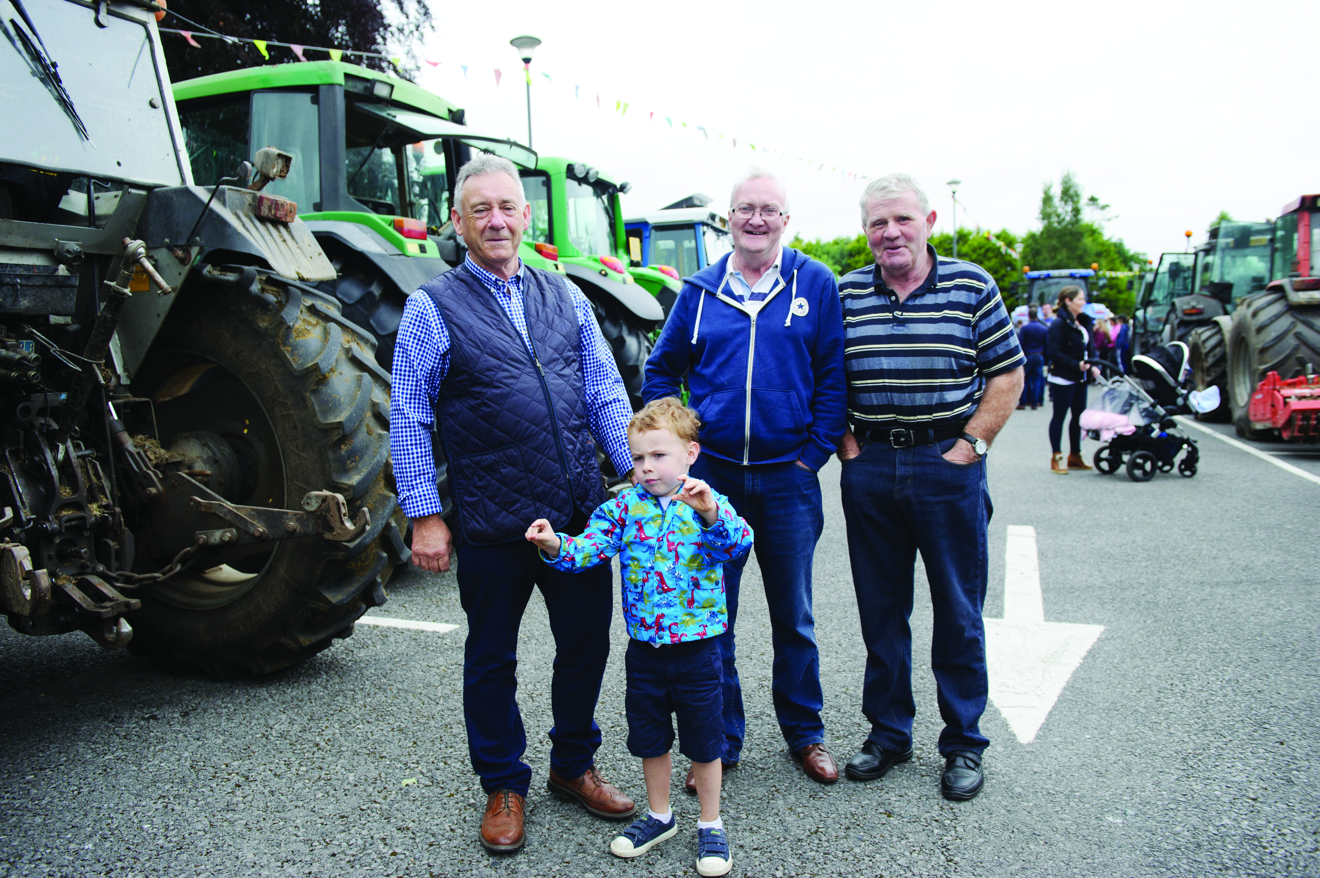 Pictured at the tractor run were Patsy McKenna, Oran McKenna, JIm Beggan and Brendan Keenan. ©Rory Geary/The Northern Standard