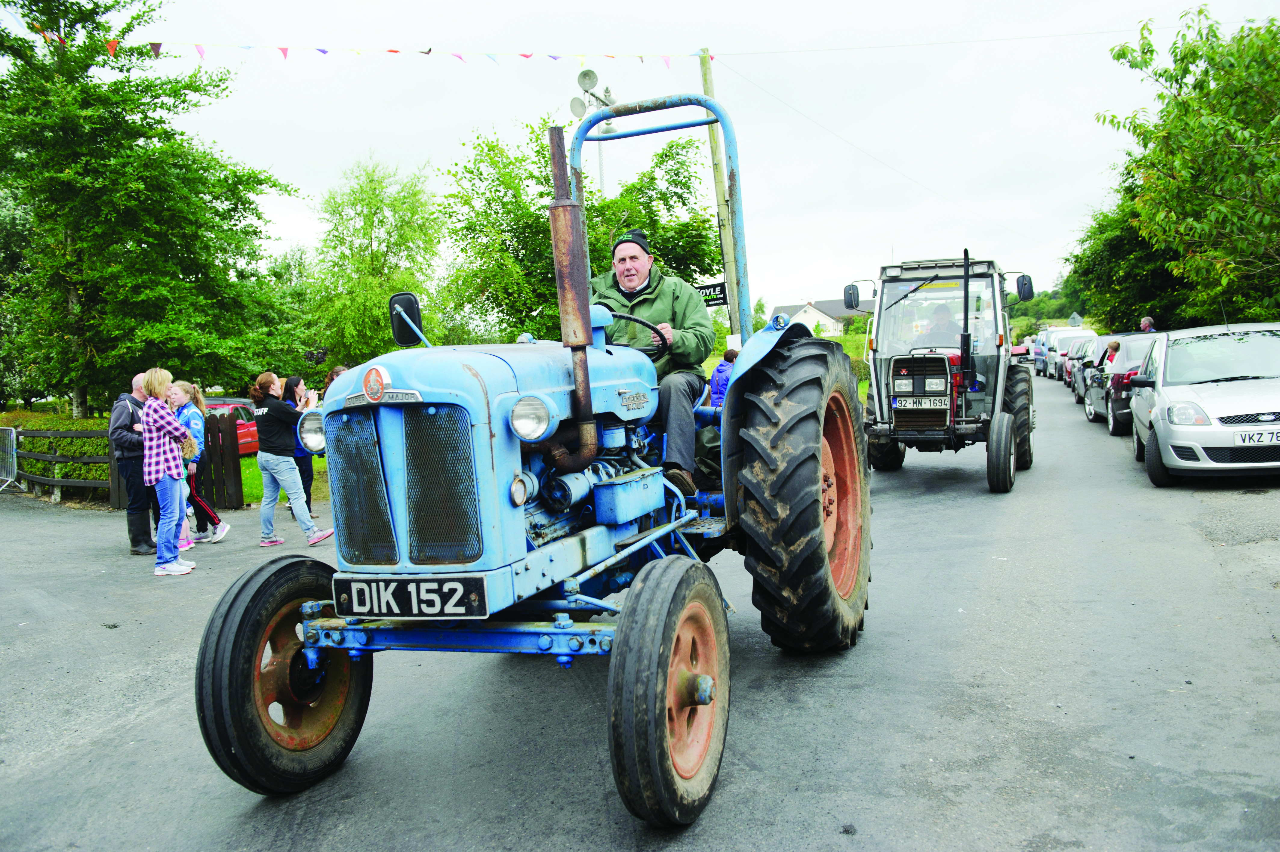 Jimmy McGuigan taking part in the tractor run. ©Rory Geary/The Northern Standard