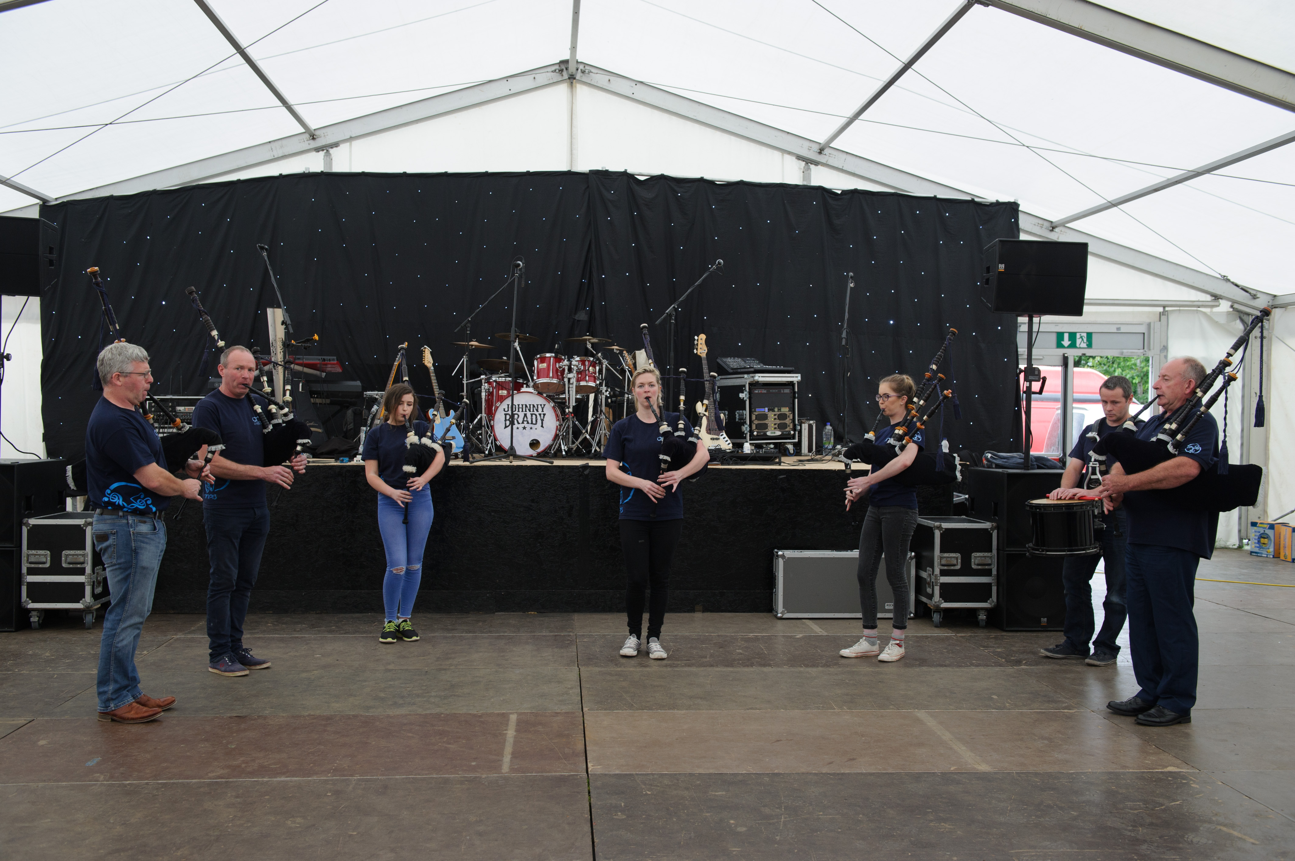 Members of the O'Neill Pipe Band, Clontibret, playing at the Carrickroe Welcome Home Festival. ©Rory Geary/The Northern Standard