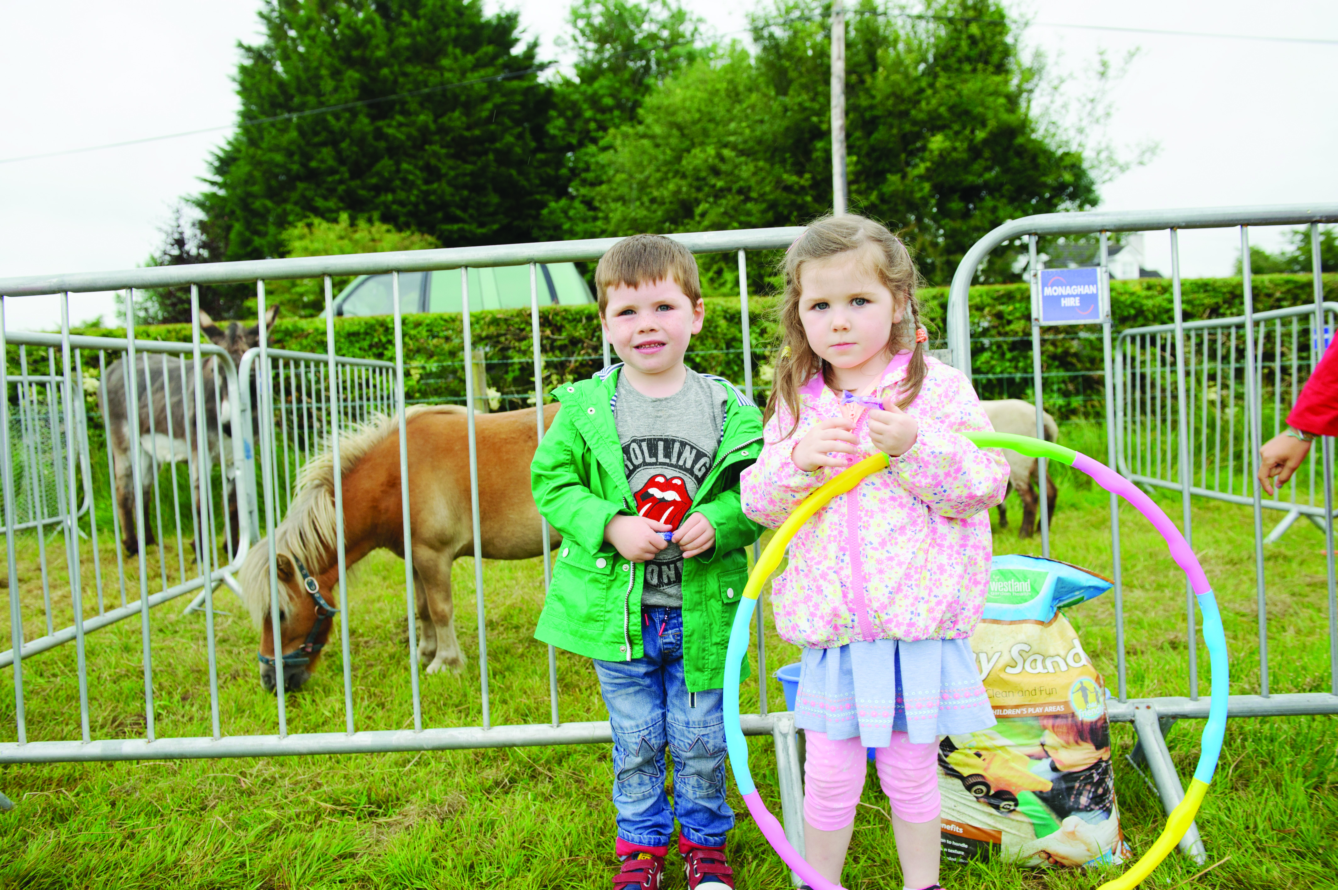 Keegan and Erin Treanor at the petting farm during the day. ©Rory Geary/The Northern Standard