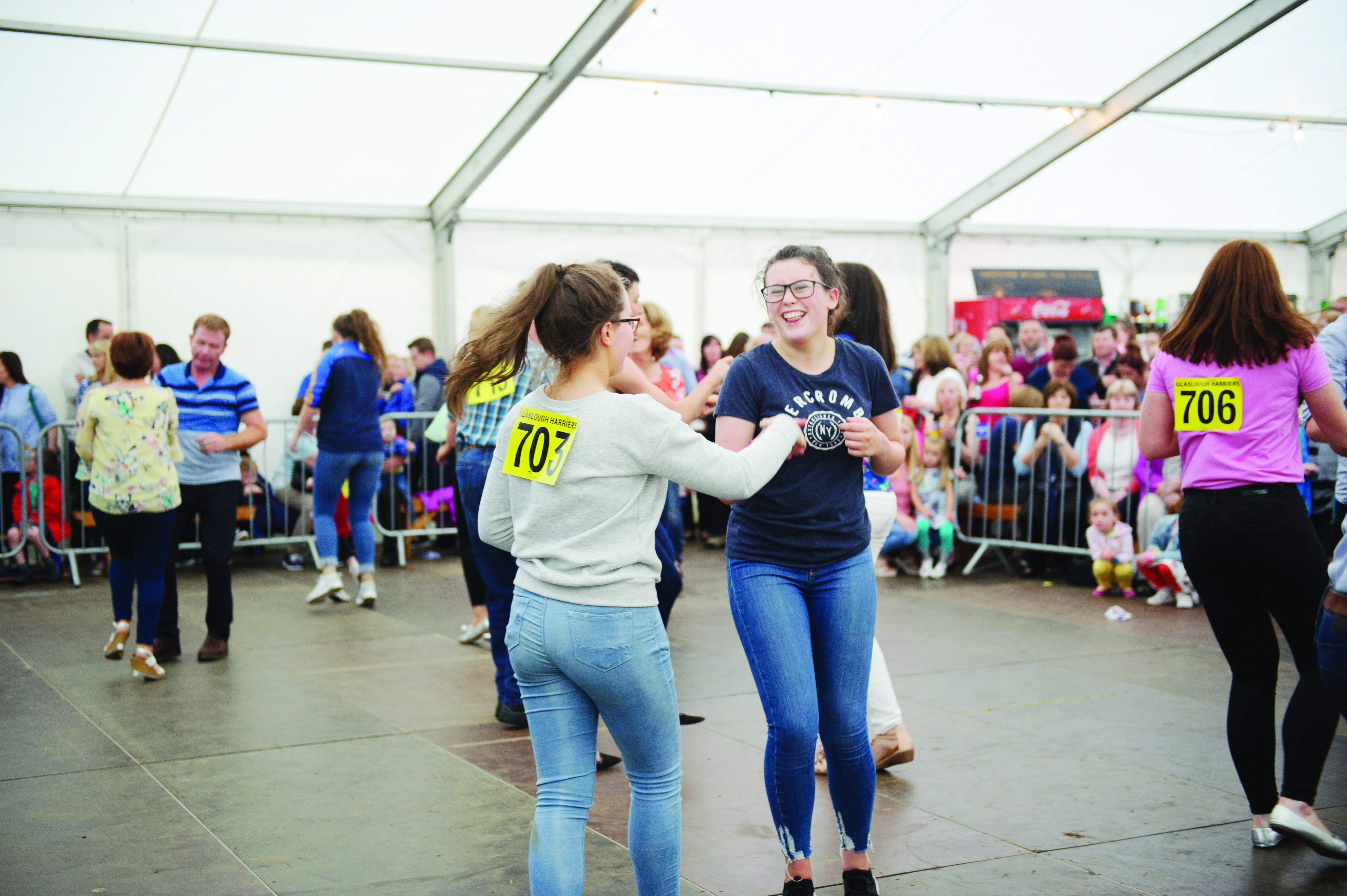 Some of the dancers taking part in the jiving competition. ©Rory Geary/The Northern Standard