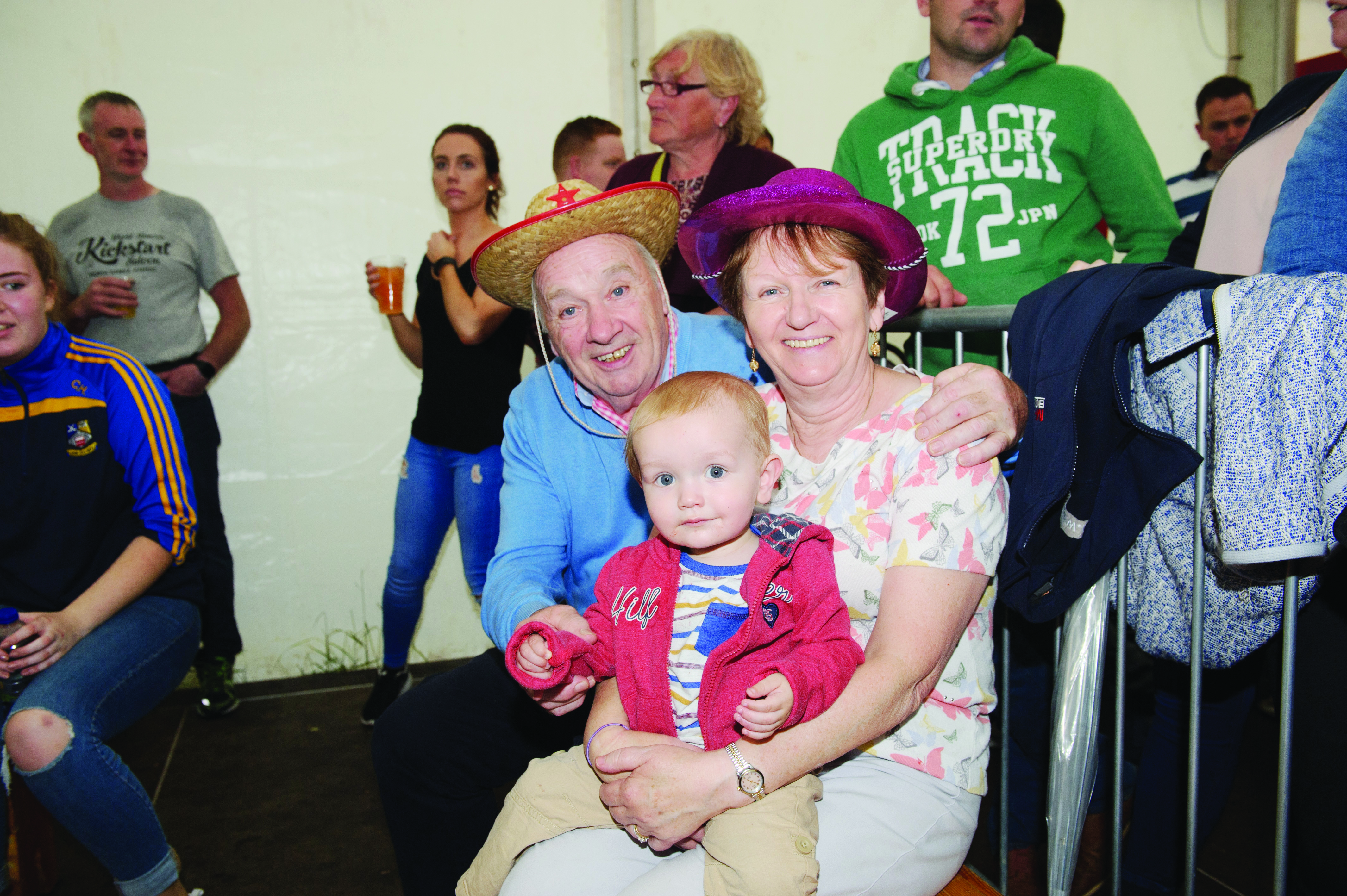 At the Carrickroe Welcome Home Festival were Freddie and Claire Carbin with their grandson Ross. ©Rory Geary/The Northern Standard