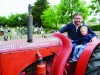 Paul and Charlie Meehan at the Carrickroe Welcome Home Festival tractor run. ©Rory Geary/The Northern Standard