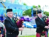 Some of the members of the Brantry Pipe Band playing at he Carrickroe Welcome Home Festival sports day. ©Rory Geary/The Northern Standard