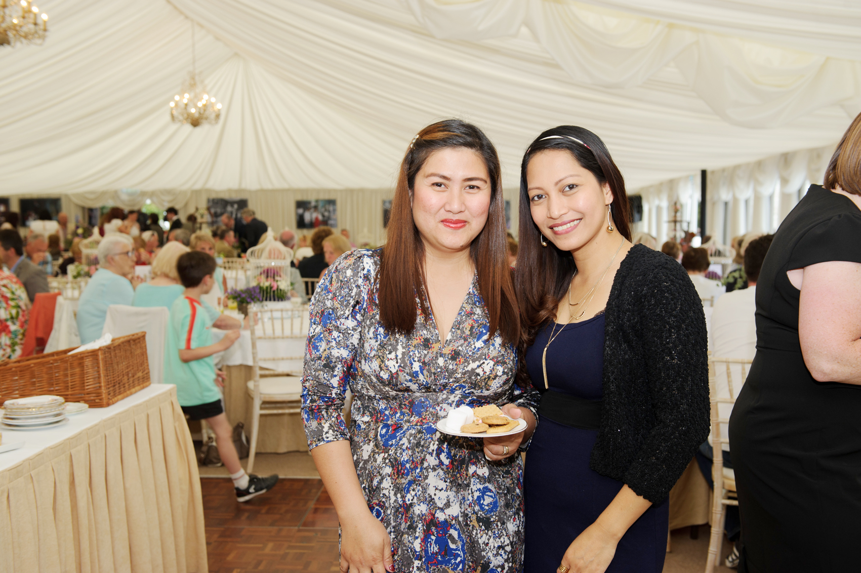 Christina and Rose at the 25th anniversary tea-party at Castle Leslie. ©Rory Geary/The Northern Standard