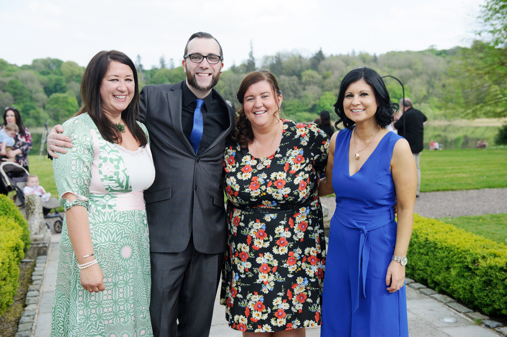At the victorian tea party at Castle Leslie last week were (L-R) Pamela McGonnell, Adam Brogan, Elaine McGonnell and Stephaine Jebb. ©Rory Geary/The Northern Standard