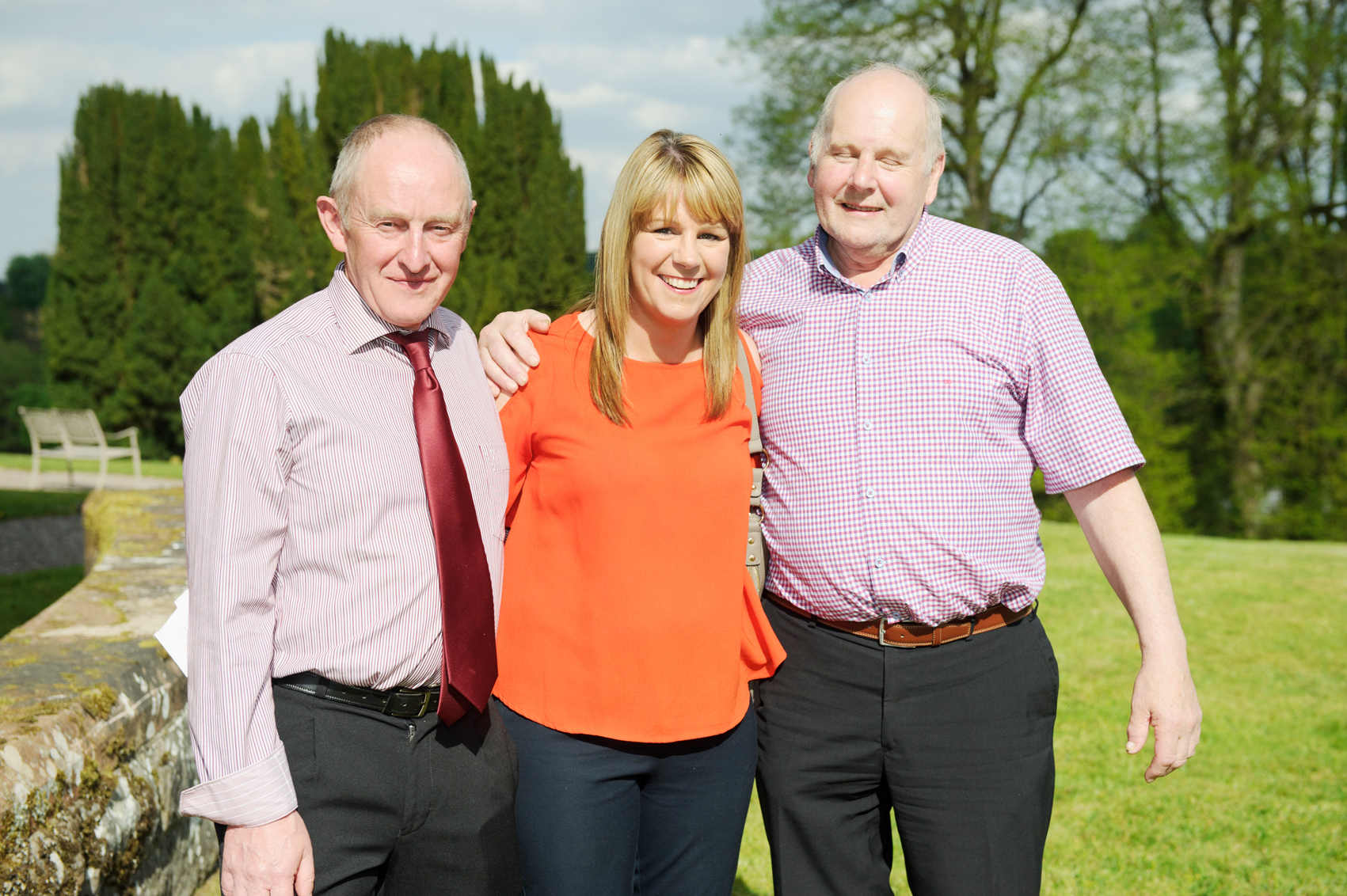 Pictured at the victorian tea-party at Castle Leslie was (L-R) Seamus McElroy, Lorna Connolly and Cecil Clarke. ©Rory Geary/The Northern Standard