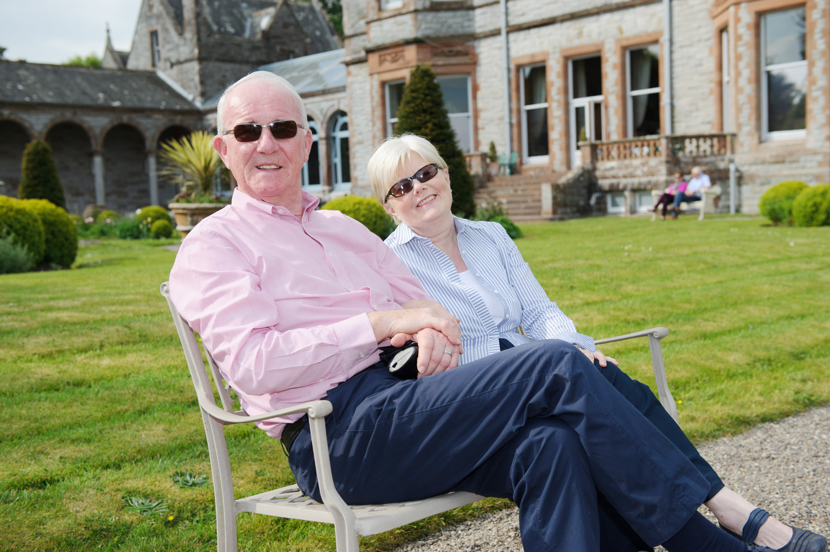 Roy and Barbara McCleary at the victorian tea-party at Castle Leslie. ©Rory Geary/The Northern Standard