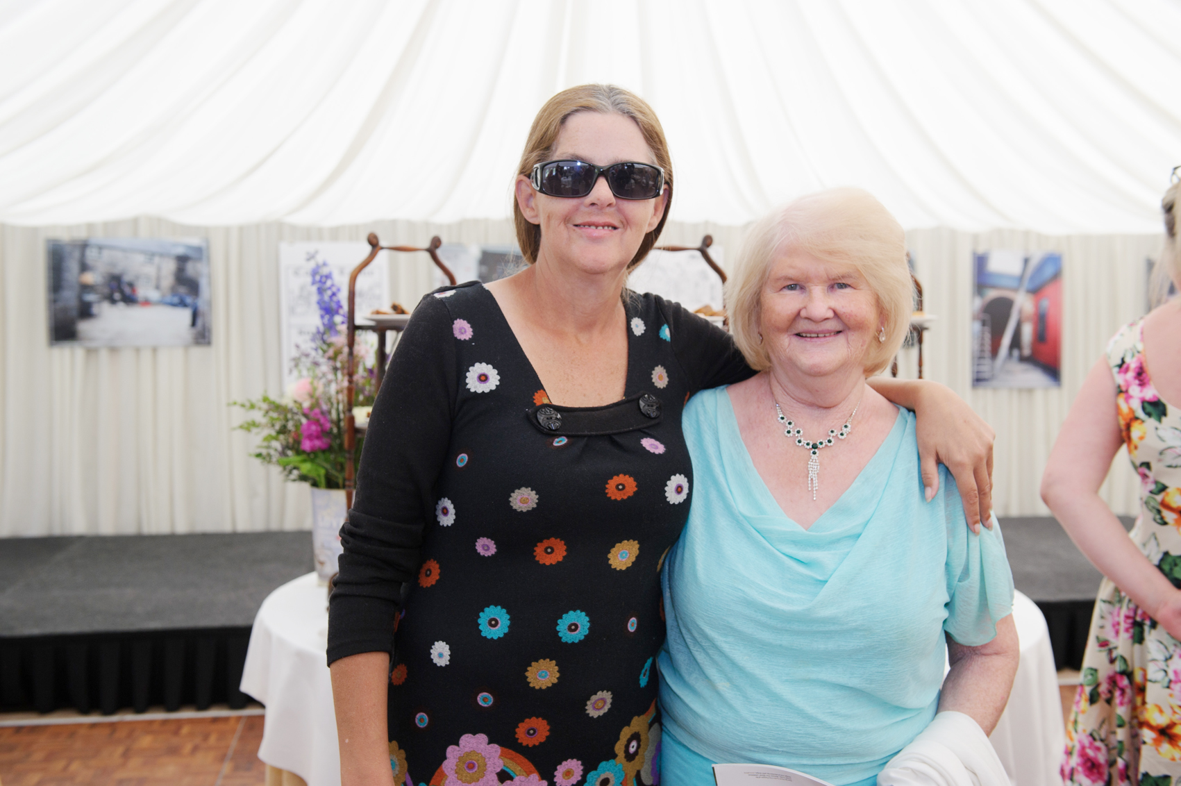 Brenda McKenna and Ann McGee at the victorian tea-party at Castle Leslie. ©Rory Geary/The Northern Standard
