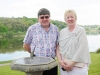 Denis and Julie Coleman at Castle Leslie during the victorian tea-party to celebrate 25 years of the tea-rooms at the castle. ©Rory Geary/The Northern Standard