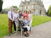 At the victorian tea party at Castle Leslie last week were staff of St Mary's National School, Glaslough. Behind (L-R) Mark Macklin, Patrica Ryan, Pauline McKenna, Joanna Cassudy and Elaine Gorman. Seated (L-R) Laura Marron and Bríd Dowling. ©Rory Geary/The Northern Standard