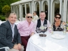 At the victorian tea party at Castle Leslie last week were (L-R) Gareth Corrigan, Trevor Cunningham, Ciaran Teague and Claire Cunningham. ©Rory Geary/The Northern Standard