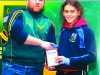 Jane Duffy, 1st U-14 female gets an award from Paddy Conlon, after the Super Valu 5k Walk/Run in Castleblayney on Sunday last. Picture: Jimmy Walsh