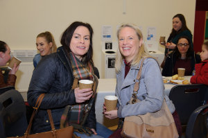 At Castleblayney College were (L-R) Patrica McDaniel and Debbie McDaniel. ©Rory Geary/The Northern Standard