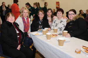 At Castleblayney College were (L-R) Margaret Daly, Martina McMahon, Geraldine Connolly, Sinead Toal, Marion Hanratty and Charlotte Hanratty. ©Rory Geary/The Northern Standard