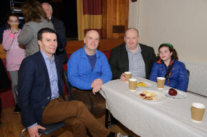Pictured are (L-R) Eddie Kelly, Patrick McArdle, Paddy Flood and Amelia Flood at The Young Americans performance at Castleblayney College. ©Rory Geary/The Northern Standard