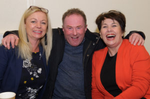At Castleblayney College were (L-R) Frances O'Reilly, Carl Sherriff and Jackie McKenna. ©Rory Geary/The Northern Standard