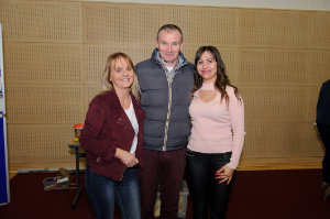 Pictured at Castleblayney College were (L-R) Deirdre and John Doran and Sinead Toal. ©Rory Geary/The Northern Standard