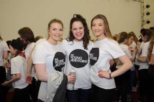 At Castleblayney College were (L-R) Cliodha, Hannah and Amy. ©Rory Geary/The Northern Standard