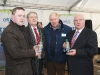 Brendan Smith TD, right, with John Paul Feeley, Thomas McCabe and Francis McDermott, at the announcement of the expansion to Celtic Pure. ©Rory Geary/The Northern Standard
