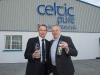 Rep of Ireland manager, Martin O'Neill with Padraig McEneaney, Celtic Pure, at the announcement of the expansion to the plant. ©Rory Geary/The Northern Standard