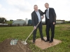 Celtic Pure CEO Padraig McEneaney and Martin O'Neill, Rep of Ireland manager, turning the sod at the announcement of the expansion to the plant. ©Rory Geary/The Northern Standard
