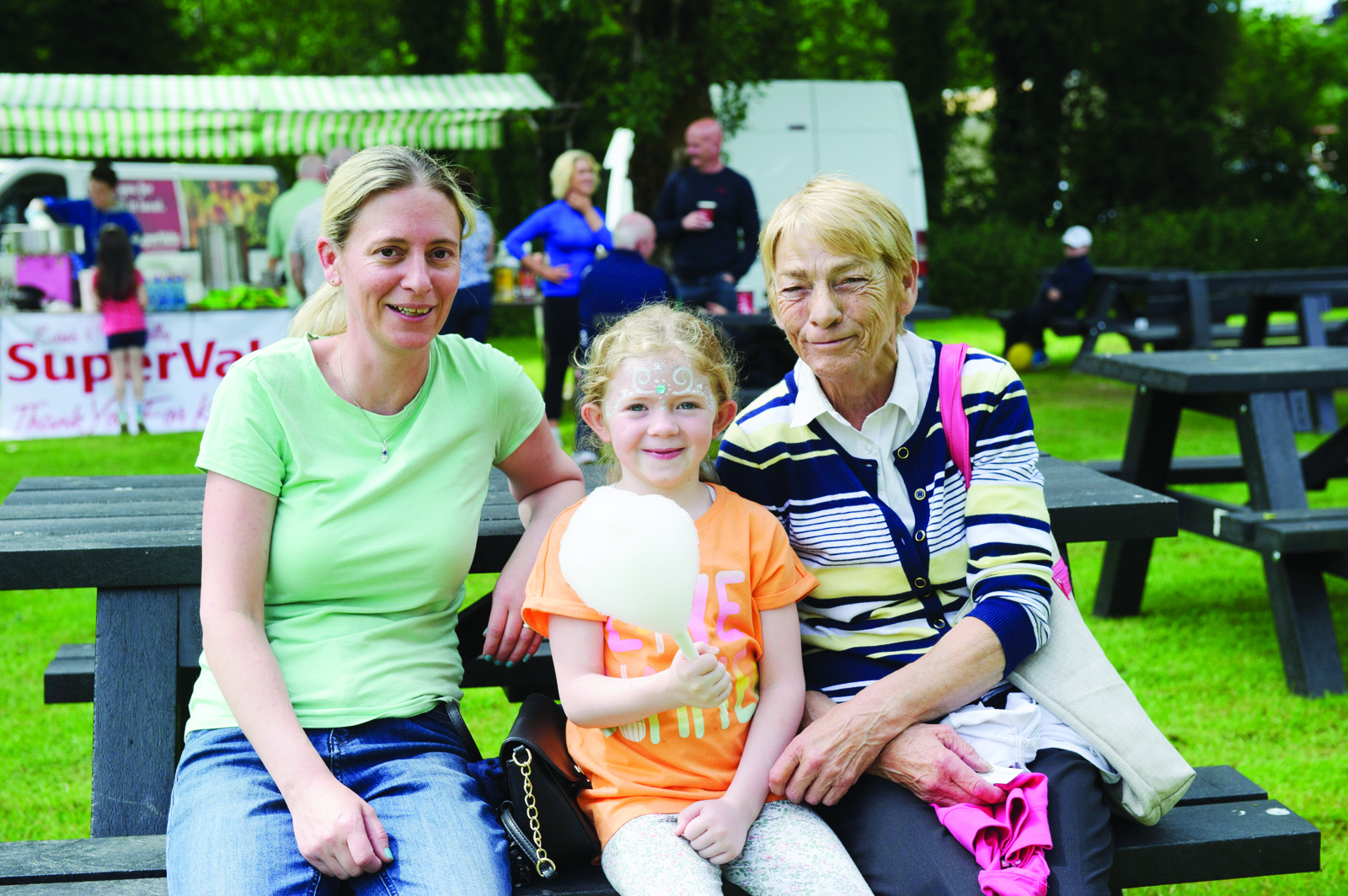 At the Clones Canal Festival were Claire and Christine Brady with Mena Kearns. ©Rory Geary/The Northern Standard