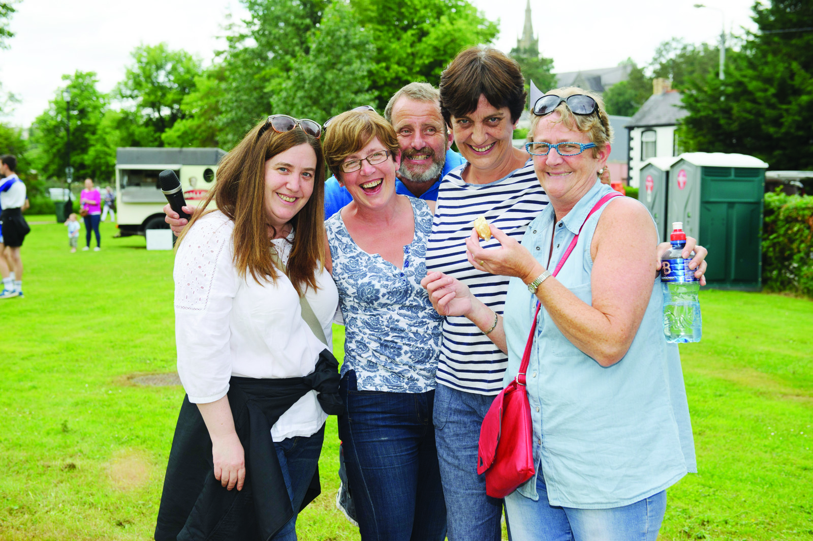 At the Clones Canal Festival were (L-R) Tayna Mullen, Joanne Rehill, Pat McCabe, Lorainne O'Connor and Michelle Morgan. ©Rory Geary/The Northern Standard